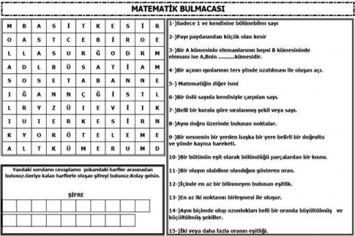 Matematik Bulmacalari